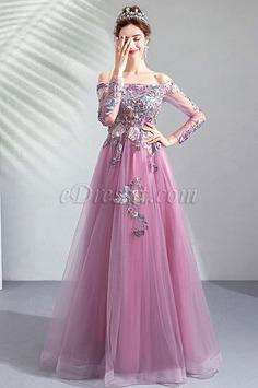 eDressit OFF Shoulder Long Sleeves Formal Party Dress (36198106)