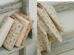 European Style Mini Flower Cotton Fabric Ivory and by Avenue55 #shop