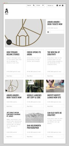 Award #layout #website #web #web design