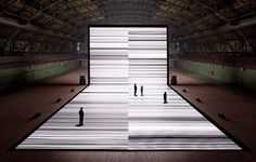 ryoji ikeda  | news #projection #ikeda #white #black #digital #light