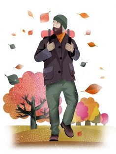 Illustration #illustration #texture #human #fall #leaves