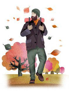 Illustration #illustration #texture #human #fall #leaves