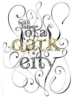 dark #pgina #ilustracin #tipografa #illustration #afiche #tipo #editorial #typography