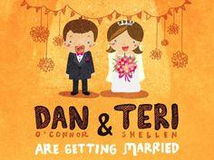 Shot_1285384973 #illustration #hand drawn #wedding #marriage #wedding invitation