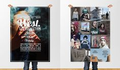 West Clothing #design #graphic #photography #poster #type