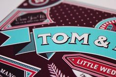 Ginger Monkey :: Tom Lane :: Illustration :: Design :: Typography :: Wedding Invite #invite #wedding #typography