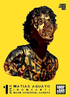 Matias Aguayo poster - Young & Fresh #artem #design #gridin #poster