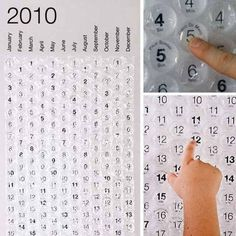 Bubble wrap-calendar