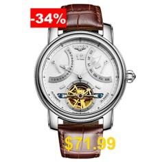 GUANQIN #GJ16009 #Men #Automatic #Mechanical #Watch #- #WHITE