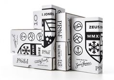 Proof | Zeus Jones #jones #white #scotch #packaging #design #screenprint #icons #black #& #zeus