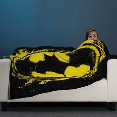 Batman Signal Logo Fleece Throw Blanket #tech #gadget #ideas #gift #cool