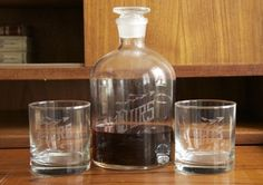 Love & Victory Ð His Hers Ours Engraved Decanter Set Ð Perfect Wedding Present #glassware #etching
