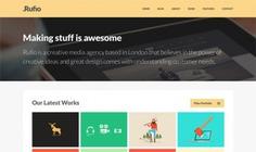 Rufio homepage psd Free Psd. See more inspiration related to Template, Portfolio, Psd, Homepage, Horizontal, Html5 and Multipurpose on Freepik.