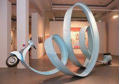 T H E D I G G E S T . C O M #vespa #sculpture #scooter