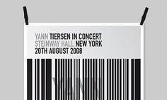 graphic identity » Poster Yann Tiersen #tiersen #yann #poster #music #concert