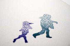 Embroidered Silhouettes by Nastasja Duthois silhouettes embroidery #embroidery #lines #slouettes #art