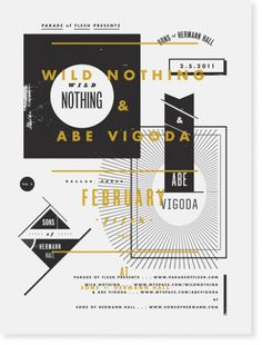 Aaron Eiland - Graphic Designer #wild #aaron #yellow #black #eiland #poster #nothing #typography