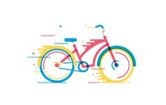 Bicicletas on Behance #bicycle #movement #vector #bike