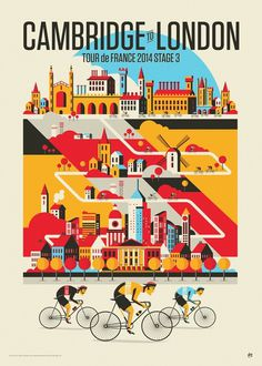 Tour de France Stage 3By Neil Stevens #illustration