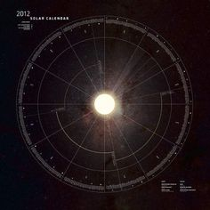 Solar Calendar on the Behance Network #sun #year #solar #dial #calendar #space #annual #stars #time