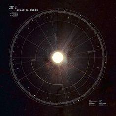 Solar Calendar on the Behance Network #sun #year #solar #dial #calendar #space #annual #stars #time