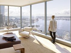 High-Rise Apartment with Floor-to-Ceiling Windows Overlooking Downtown Seattle 8