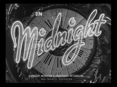 Midnight Title Card #movie #lettering #title #card #deco #type