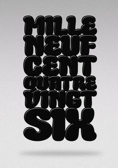 Hello 1986 » MilleNeufCentQuatreVingtSix #font #illustration #1986
