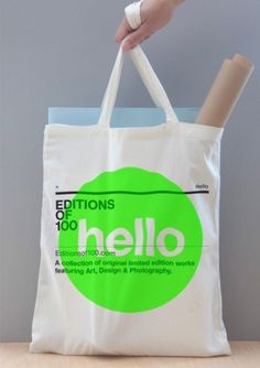 Editions of 100 — EO100 TOTE ($1-20) — Svpply #bag #edition #of #hello #100