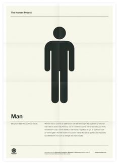 The Human Project (Man) Poster #inspiration #creative #design #graphic #grid #system #poster #typography