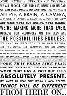 Explore – This manifesto for visual culture fromRencontres... #graphic #poster #typography