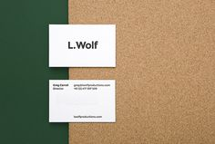 L. Wolf by Mildred & Duck #graphic design #print #business card