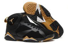 Mens Nike Air Shoes Vii 7 Retro Black Black Gold New
