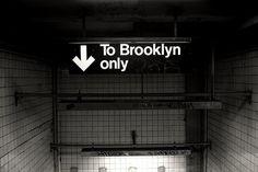 Sara Lindholm #subway #brooklyn #typography