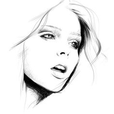 by untitled 07 #white #woman #girl #black #illustration #portrait #and #fashion #face