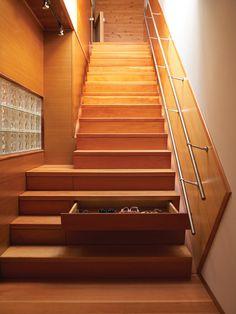 Staircase with hidden storage