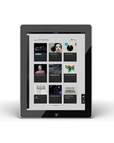 Clusterr iPad App (reissue 2012 on the Behance Network #inspiration
