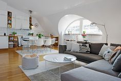 Квартира в Гётеборге #white #interiors #dream #home #on