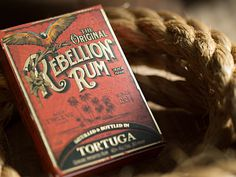 Rebelllion Rum by Mike Clarke #logotype #lettering #branding #packaging #design #liquor #logo #illustration #identity #type #package #typography