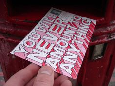 abusive postcards   hate mail project by mr. bingo