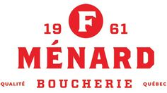 F. Ménard Logo and Identity #menard #type #red #logo