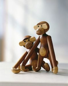 New Animals in the Ring #monkey #kay #wood #vintage #animals #bojesen