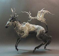 Dapple Kirin by ~creaturesfromel on deviantART #art #creature #sculpt