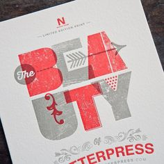 The Beauty of Letterpress #type #design #letterpress