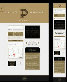 Daily Press Identity on Behance