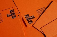 Because Studio — Design & Art Direction/Low Winter Sun / Bench.li #design #orange #graphic #stationery #typography