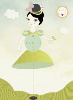sereo #illstration #girl #color #sereo #cute #green
