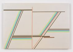 Paintings 2009-2010 : ANN PIBAL #lines #geometry #painting