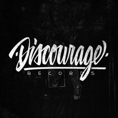 DISCOURAGE Records #calligraphy #logo #records #discourage #typography