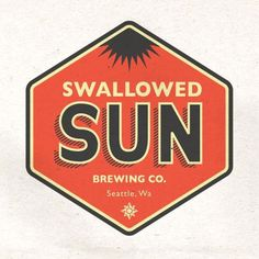 Swallowed Sun Brewing Co. #brewery #beer #design #graphic #label